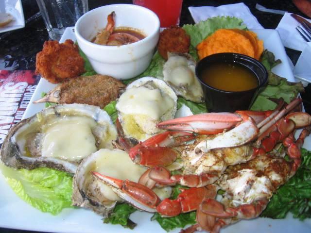 Cavalier Crab Shack Ocean Drive Seafood Platter