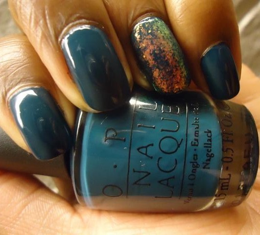 """OPI Ski Teal We Drop Nail Polish"""