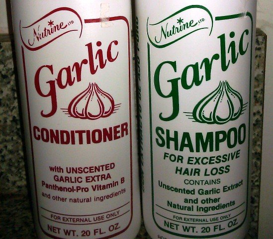 Nutrine Garlic Shampoo and Conditioner For Hair Loss