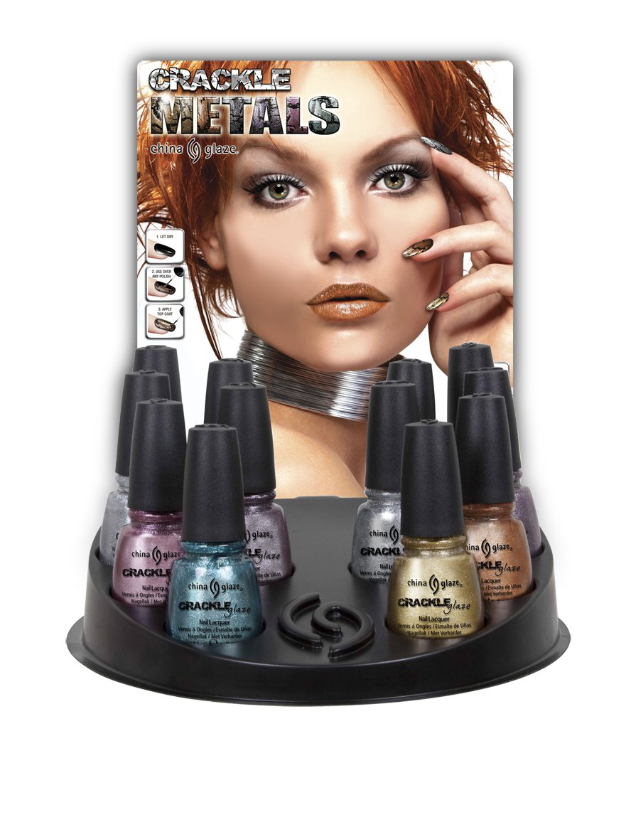 """China Glaze Crackle Glaze Metals Collection"""