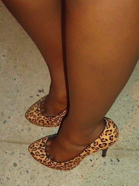 calf hair leopard shoes