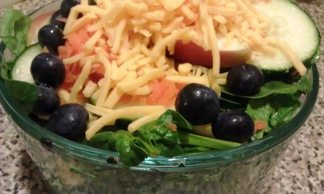 """""""Spinach Salad with Apples and Blueberries"""""""