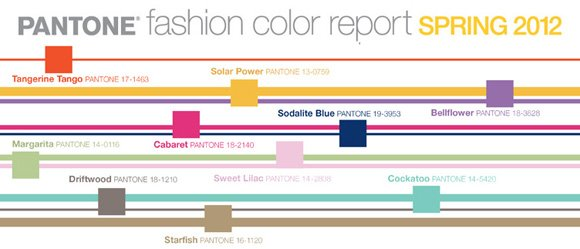 """Pantone Spring 2012 Color Report"""