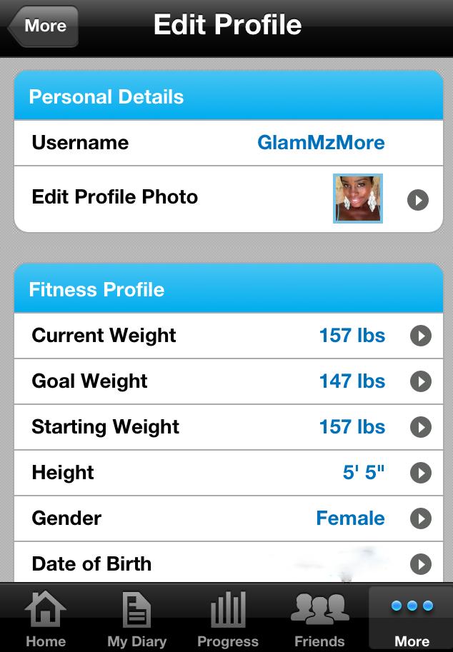 My Fitness Pal App