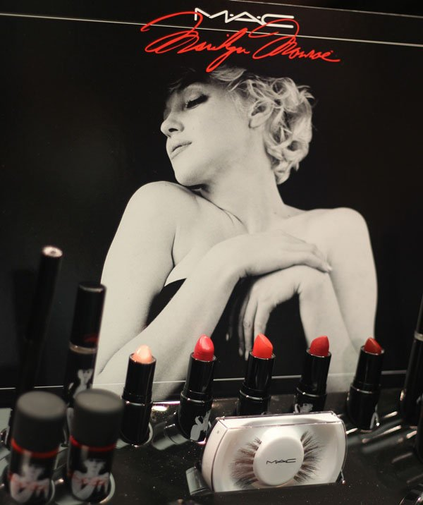 """MAC Marilyn Monroe Collection Display"""