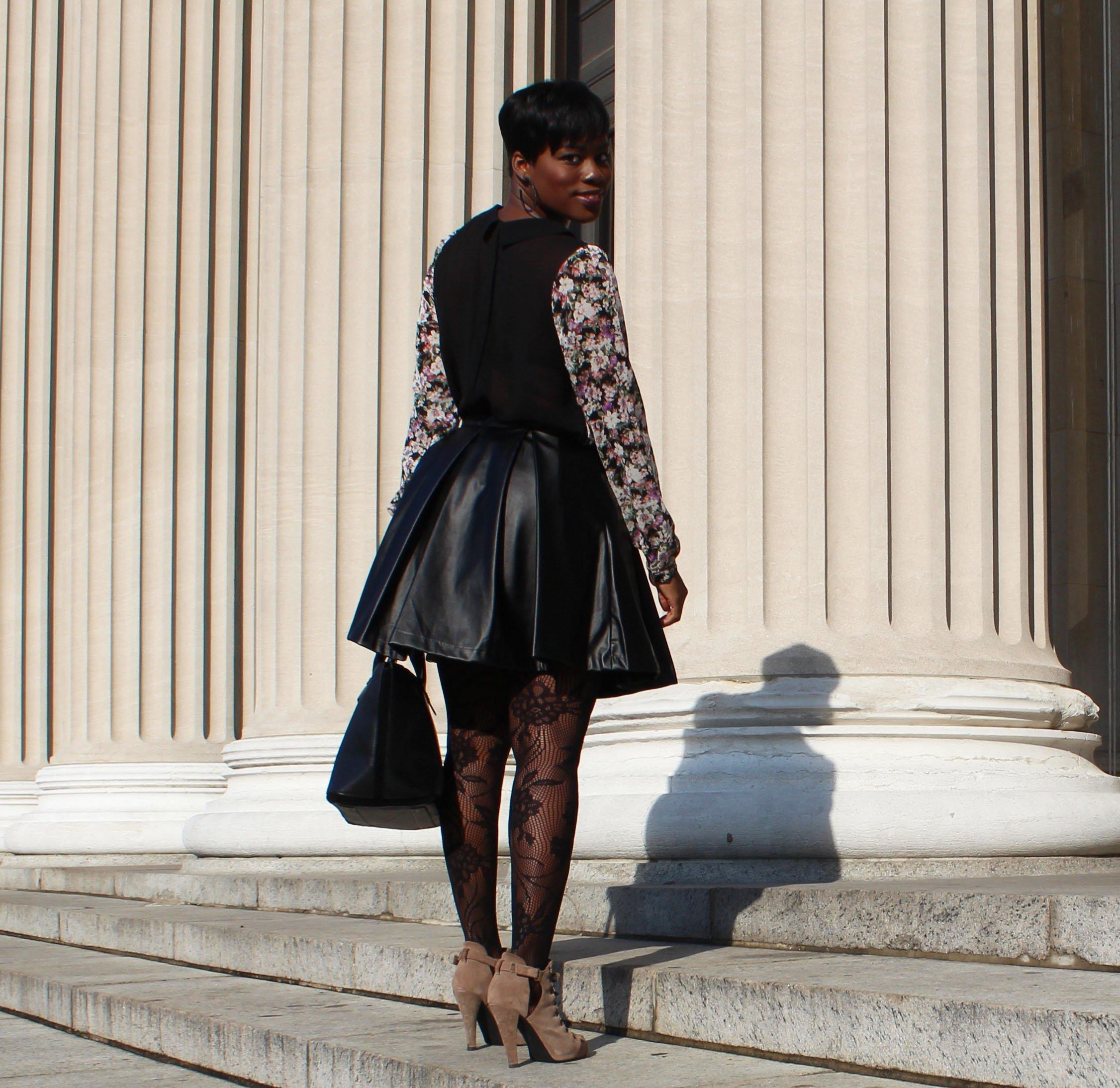 Faux-Leather-Skater-Skirt-OOTD2