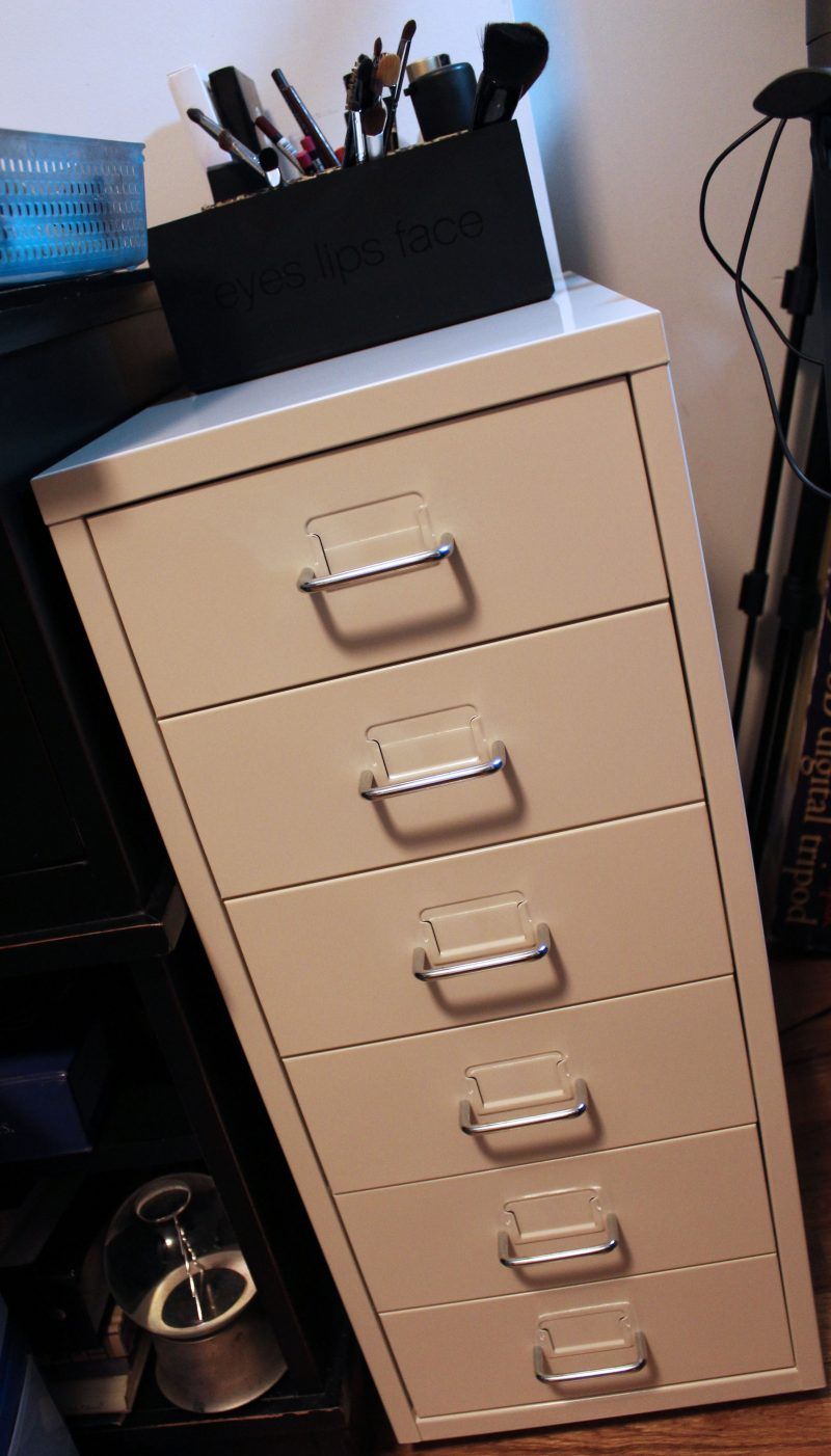 Makeup-Storage-Ikea-Helmer-Cabinet3 & Updated Makeup Storage: Ikea Helmer