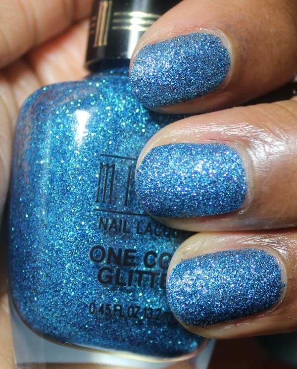 Milani One Coat Glitter Blue Flash