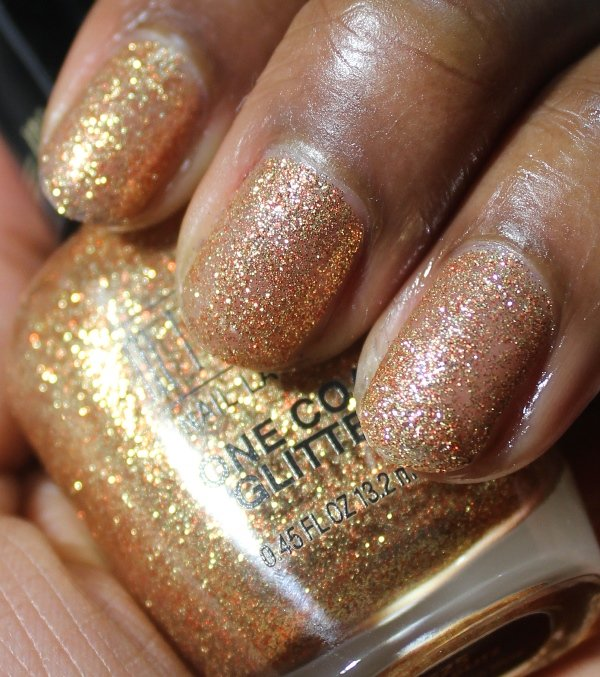 Milani One Coat Glitter Gold Glitz