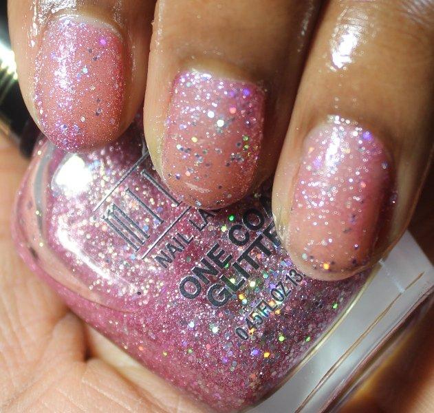 Milani One Coat Glitter Pink Flare