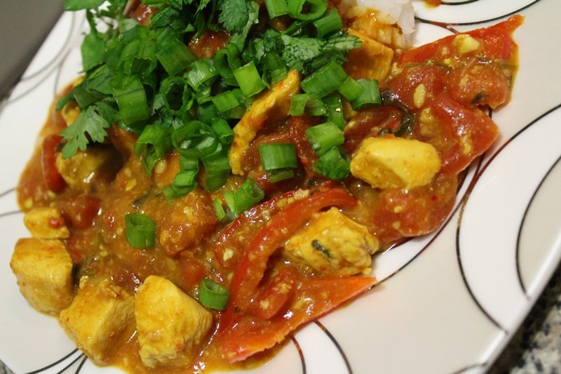 Garlic Chicken in Coconut Curry Sauce Recipe