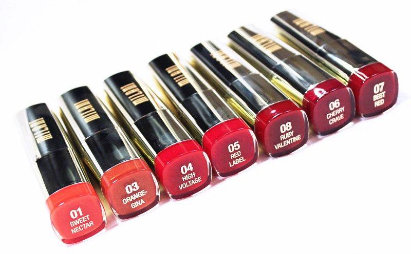 Milani Color Statement Lipstick Orange and Reds