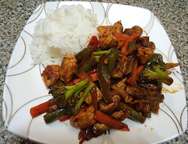 Sweet 'n Spicy Chicken Stir Fry Recipe
