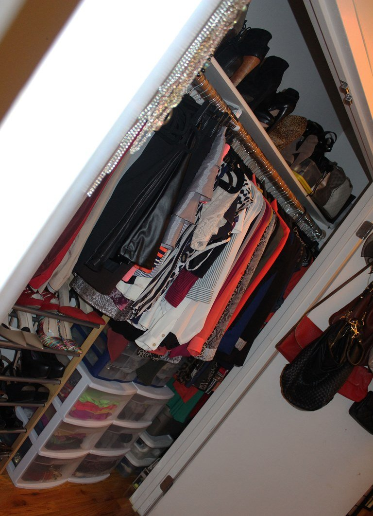 Well Organized Small Closet