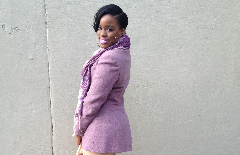 pastel purple blazer