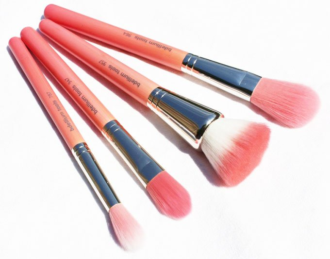 """Bdellium Tools Pink Bambu Series Brushes"""