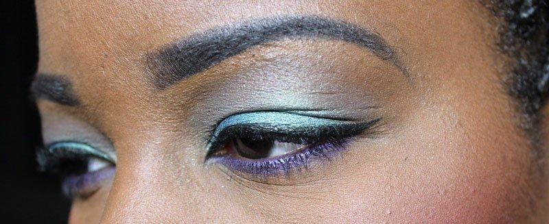 teal and purple eye makeup