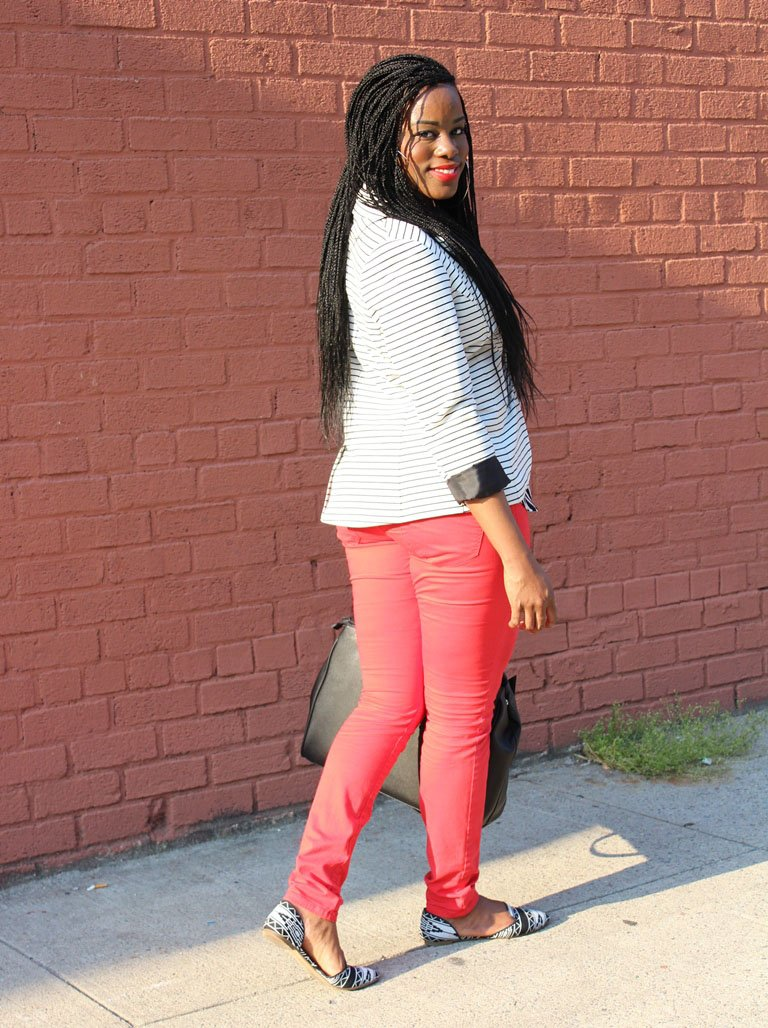 black, white & Red Outrfit