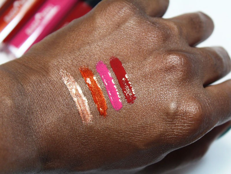 Black Opal Color Splurge Patent Lips Gloss Swatches