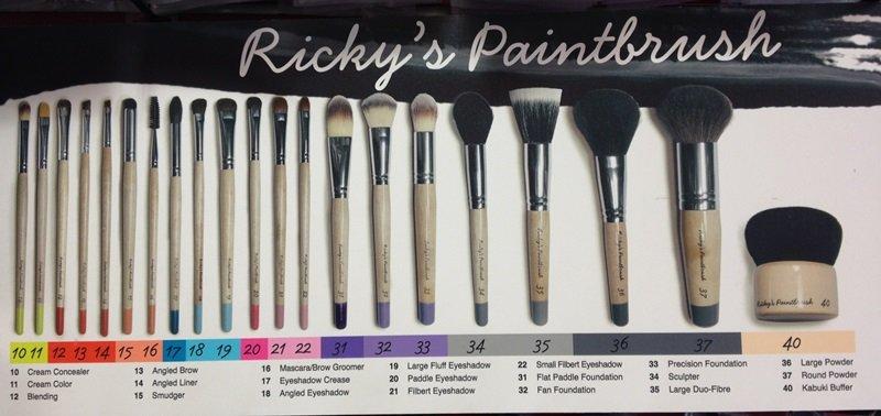 Rickys Paintbrush Makeup Brushes