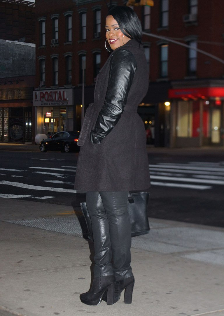 leather sleeves coat