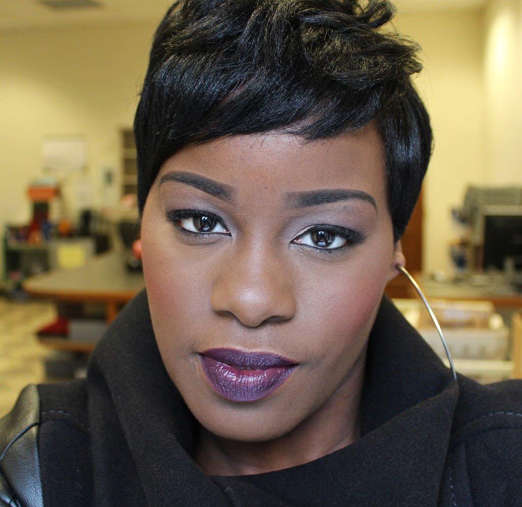 Nicka K Lipstick Amethyst Makeup Look