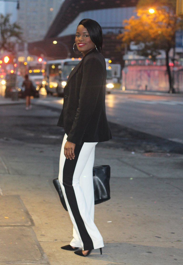 tuxedo pants outfit