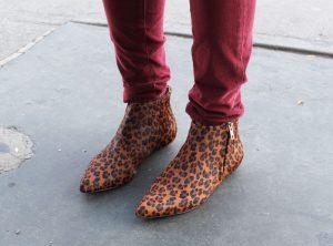 Leopard Print Beatle Boots