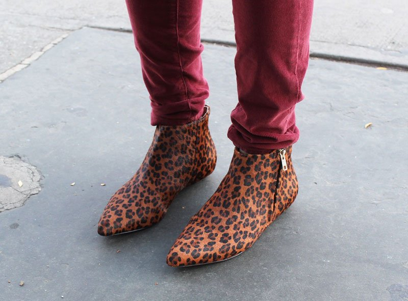 Corso Como Leopard Print Beatle Boots