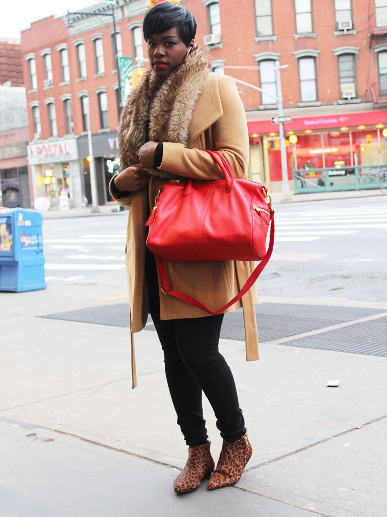 fossil erin satchel red