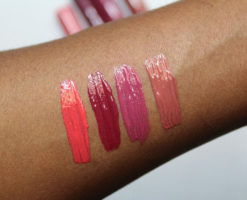 Power Lip Lasting & Moisturizing Gloss Stain Swatches
