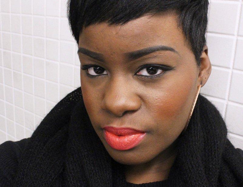 Power Lip Lasting & Moisturizing Gloss Stain Mango Tango Dark Skin