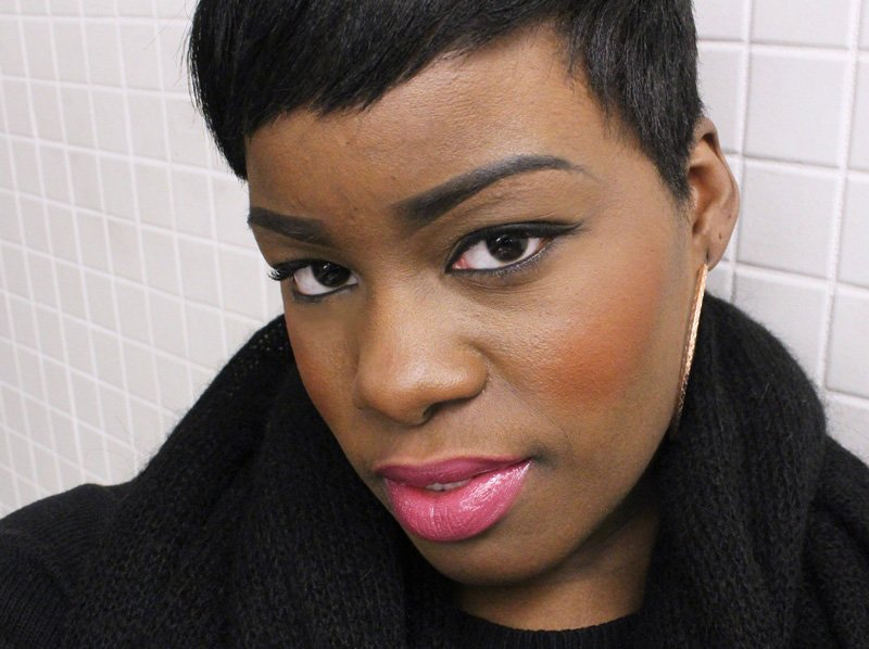 Power Lip Lasting & Moisturizing Gloss Stain Raspberry Tart Dark Skin