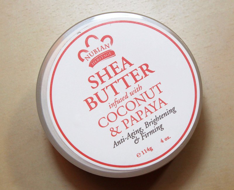 """""""Nubian Heritage shea Butter Infused with Coconut & Papaya"""""""