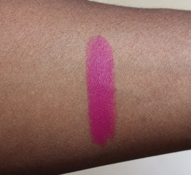 mac flat out fabulous lipstick swatch