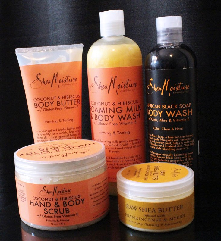SheaMoisture bath and body products