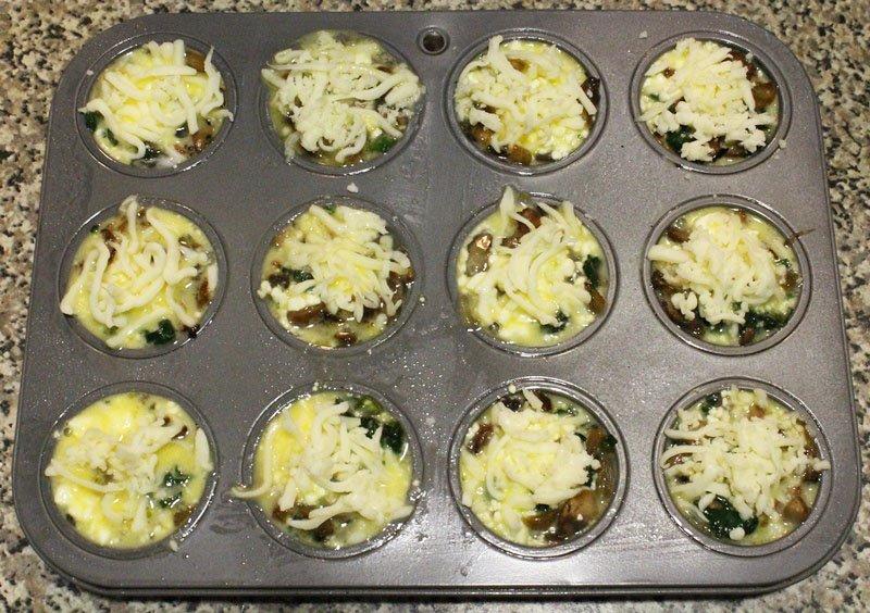 Mini Spinach & Mushroom Frittatas