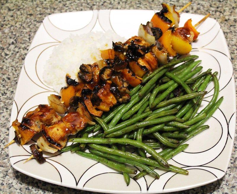 Hoisin Glazed Grilled Chicken Skewers