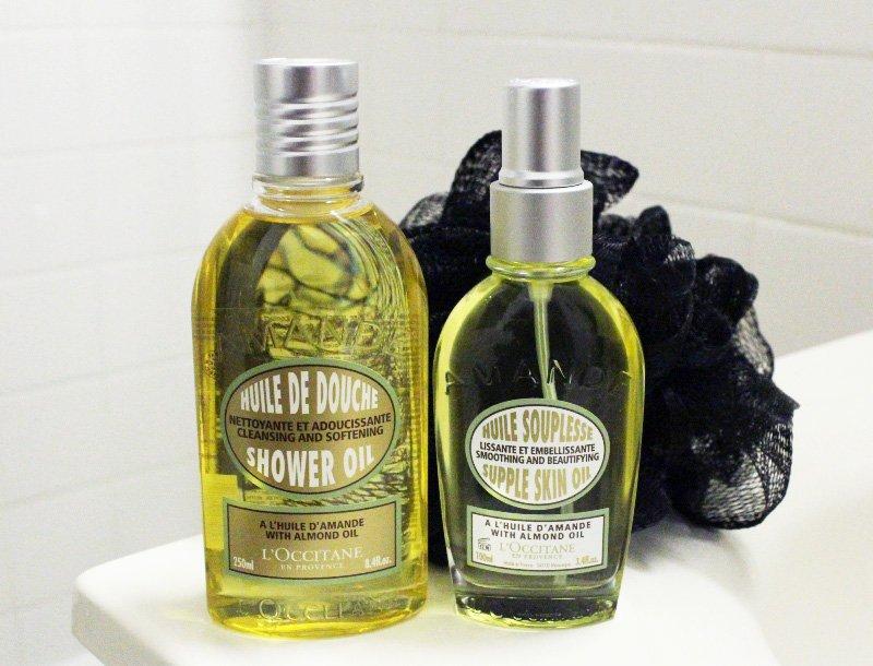 L'Occitane Almond Shower Oil and Almond Supple Skin Oil