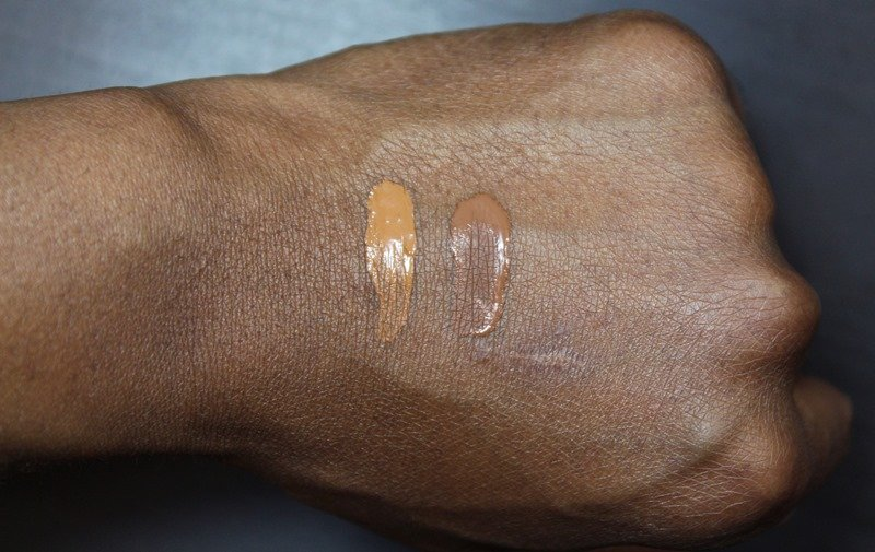 Black Radiance Color Perfect Oil Free Liquid Makeup swatches rum spice brownie