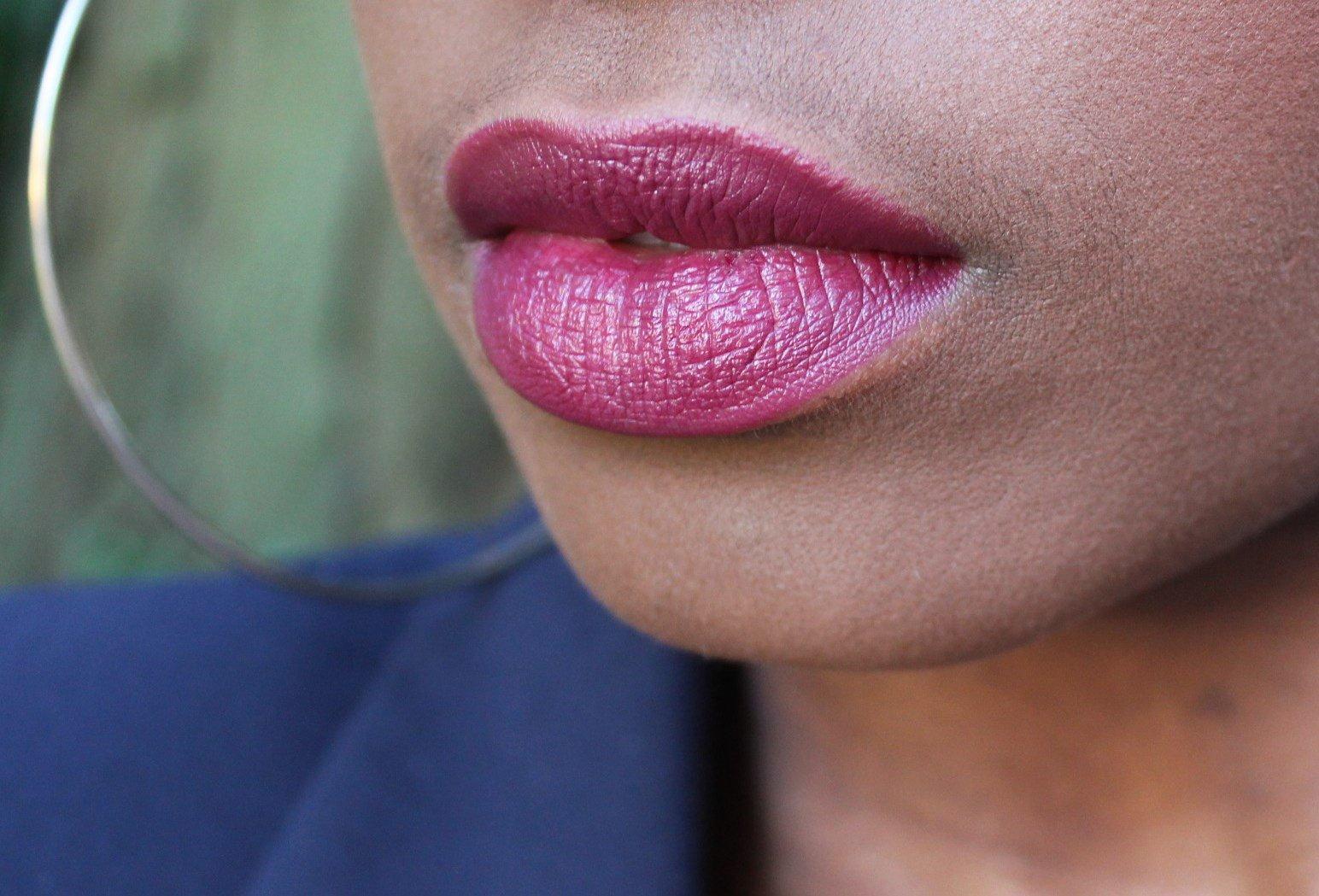 Black Opal Color Splurge luxe creme lipstick fantasia plum