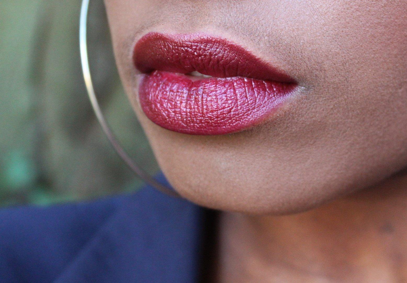 Black Opal Color Splurge luxe creme lipstick wine not