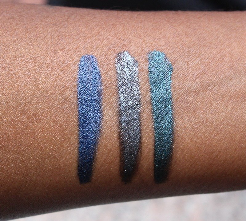 Milani Limited Edition Bedazzled Collection constellation gel eyeliners swatches