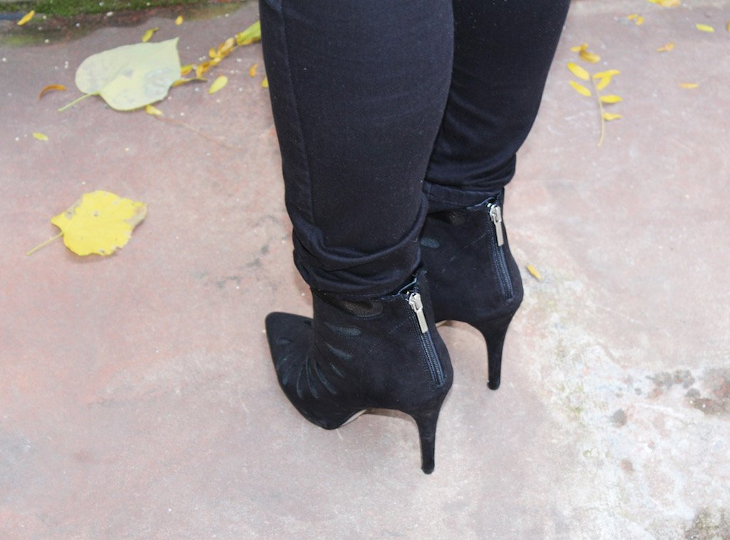 just fab sheer cut out booties