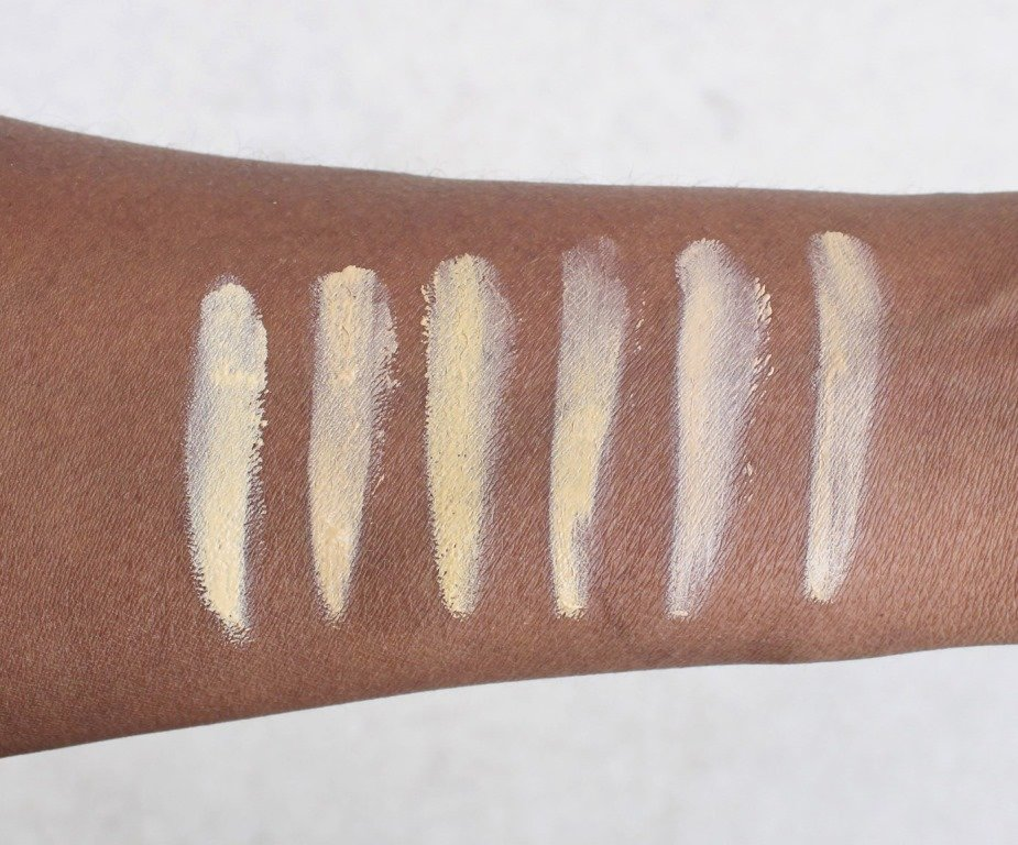 jordana complet cover 2-in-1 concealer and foundation swatches light skin