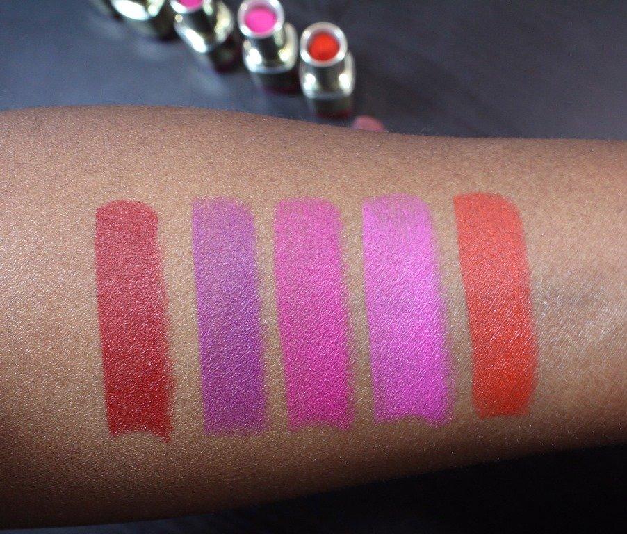 milani color statement matte lipstick swatches