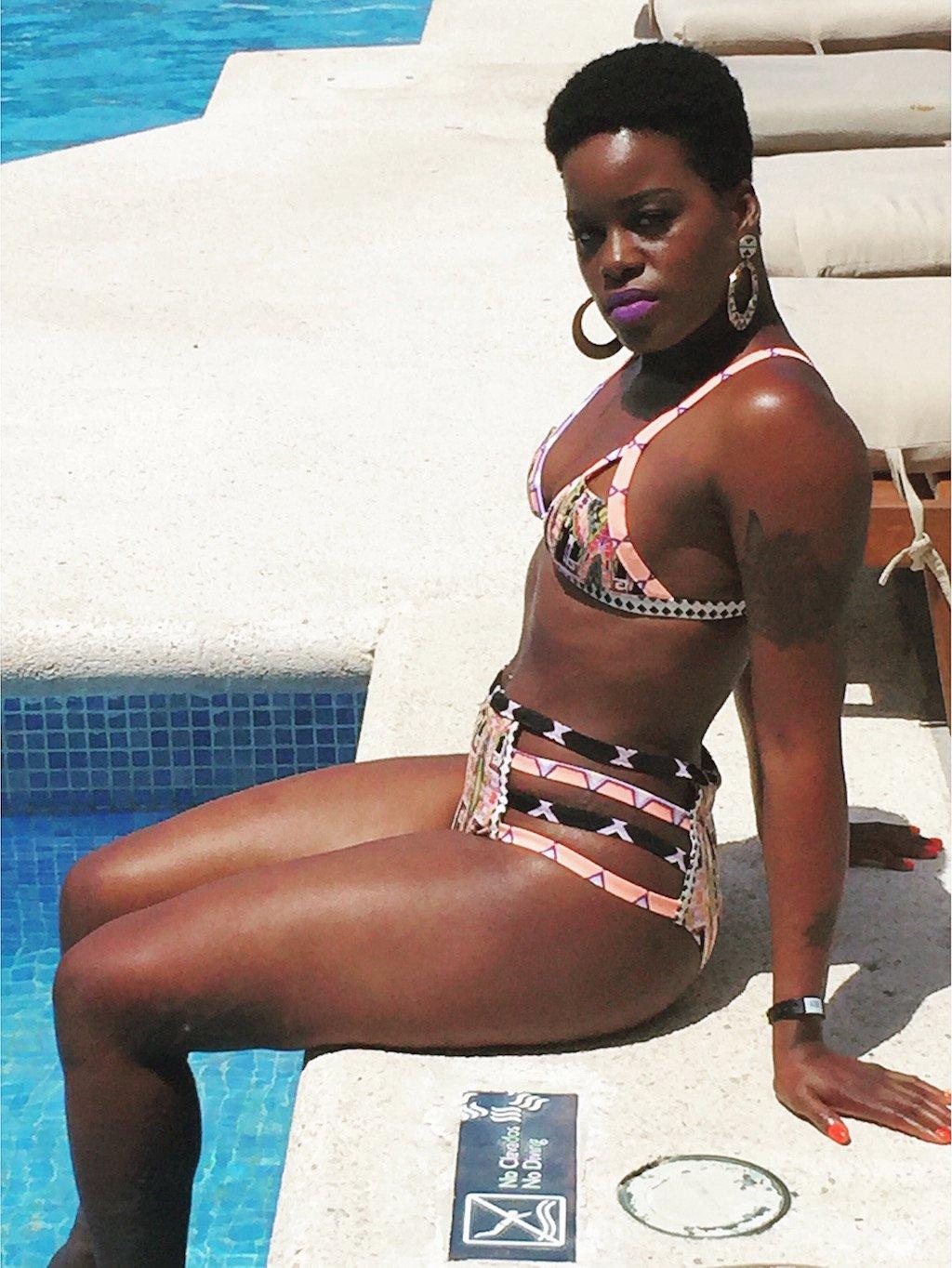 Tribal Print Cut Out Bikini