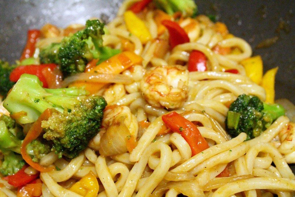 Shrimp Drunken Udon Noodles Recipe