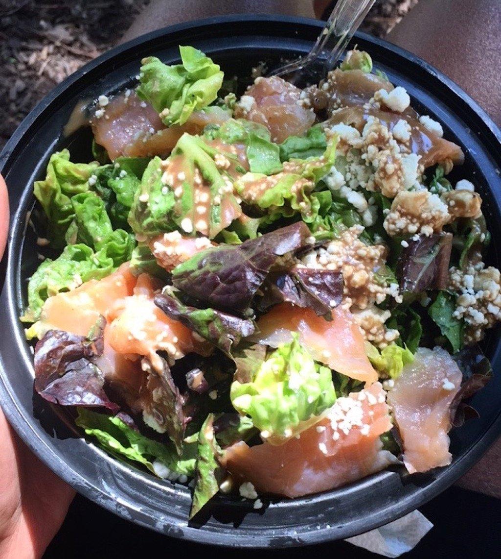 pescatarian smoked salmon salad