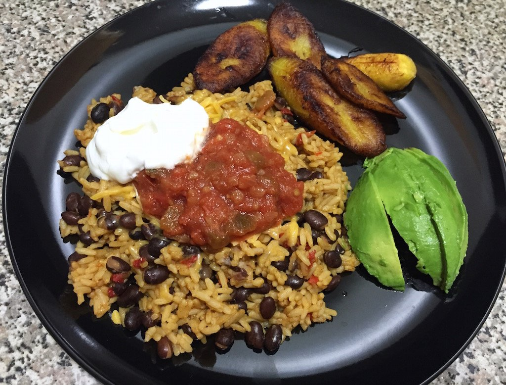 pescatarian spanish rice and beans